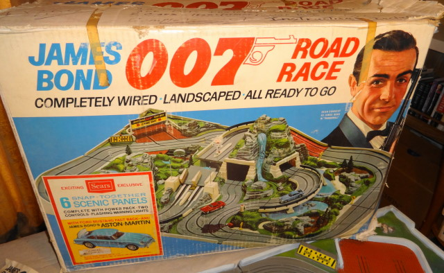 1966 James Bond 007 Road Race Slot Car Set