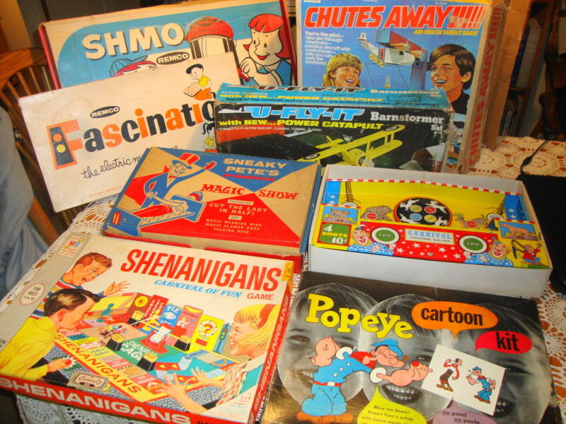 Vintage 1960s & 1970s Toys and Games