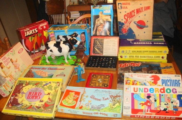 Auction Finds - Vintage 1950s 1960s 1970s Toys and Games