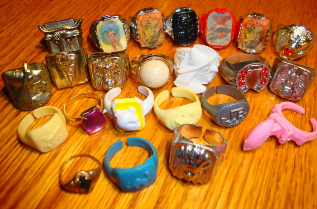 23 Kids Rings Lot