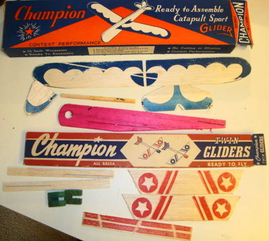 1950s Balsa Wood Glider Airplanes