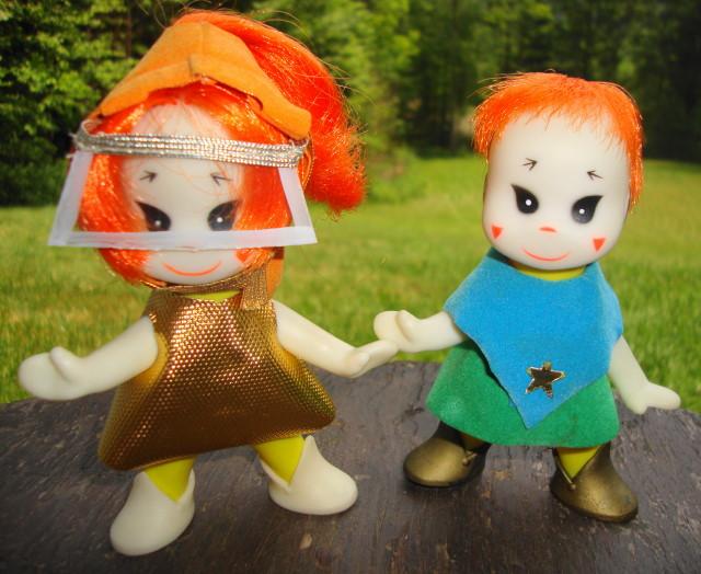 2 Mini Martians J. Swedlin Ideal Toys