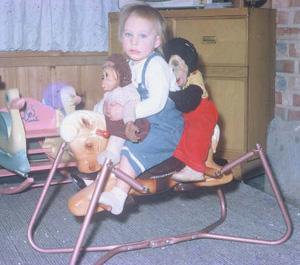 J. Fred Muggs Monkey & Zippy Monkey, Spring Horse