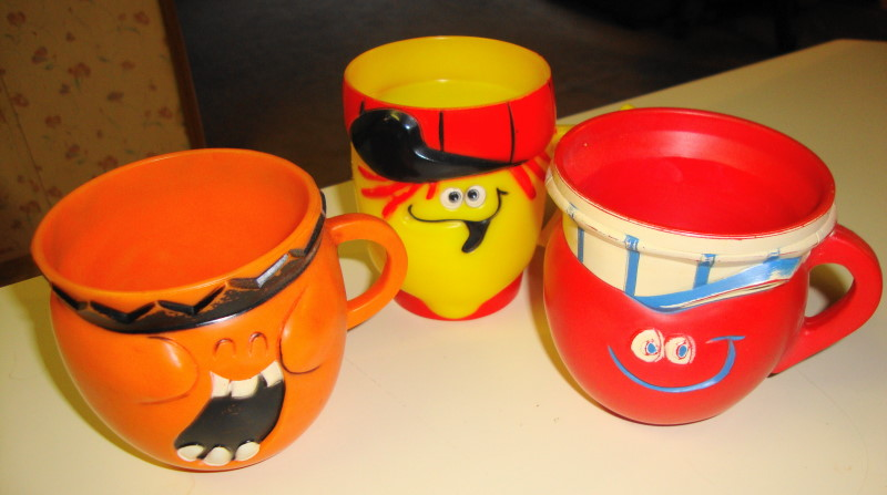3 Funny Face Mugs