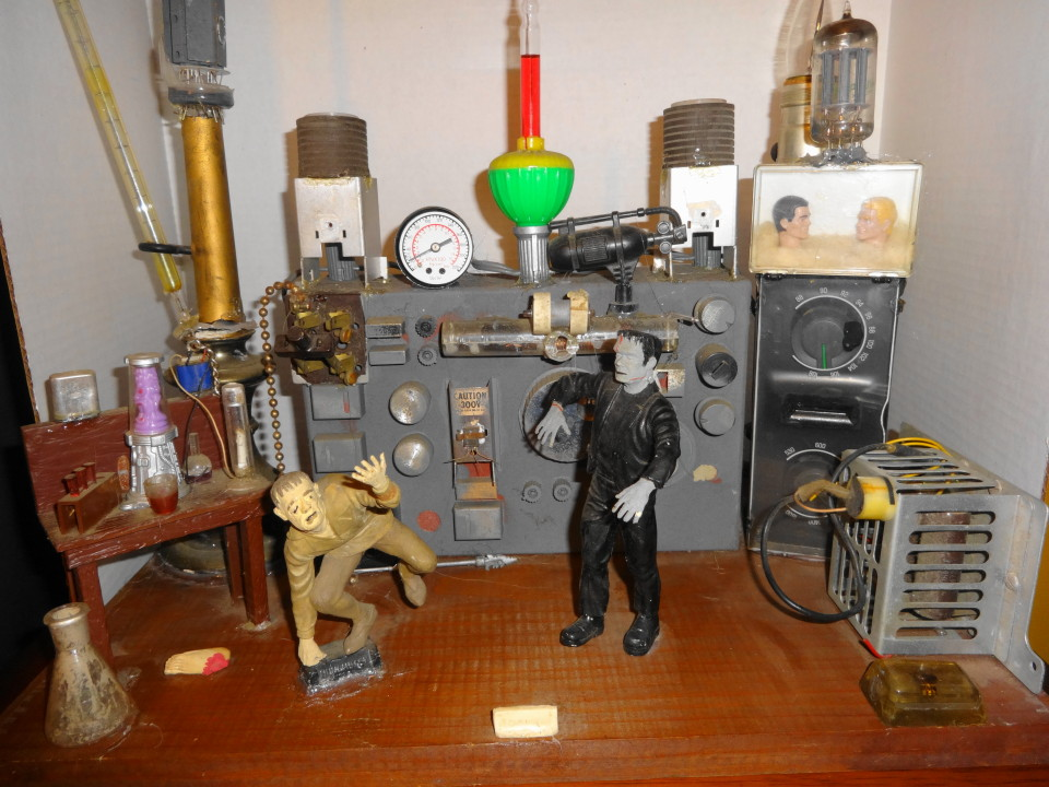 1960s Monster Lab Diorama