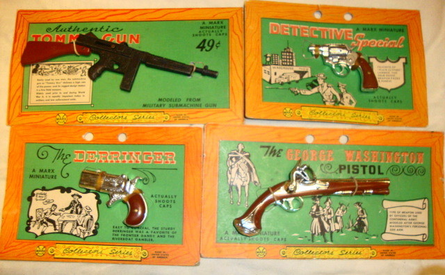 1960s Marx Miniature Cap Guns