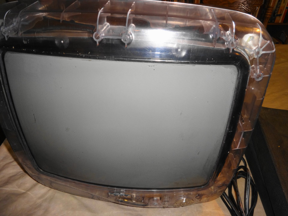Vintage Transparent Color TV