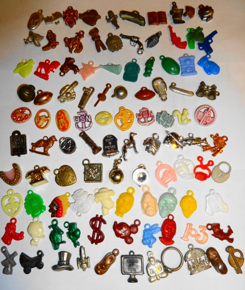 1940s/50s Vending Machine Gumball Charms Lot