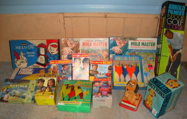 Vintage 1950s 1960s 1970s Toys!!