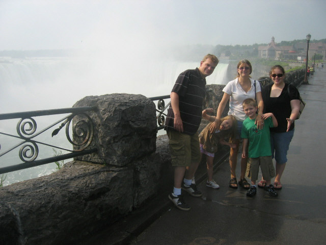 Niagara Falls Canada - My son, his wife, her mom & 2 grandkids.