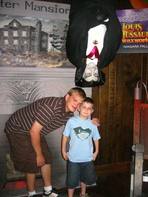 My Son & Grandson with Grandpa Munster at Wax Museum