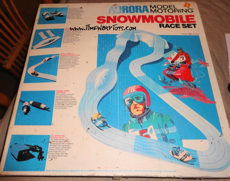 1971 Aurora Snowmobile Slot Car Set