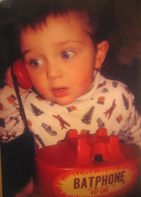 My Grandson on a very serious call!
