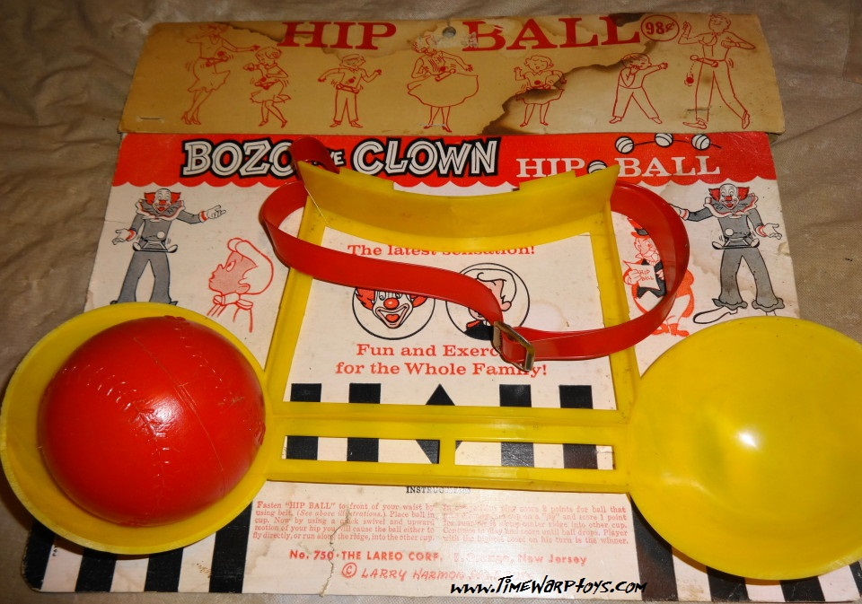 Rare 1950s Bozo Clown Hip Ball Toy