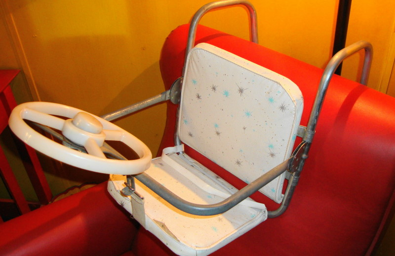 1950s Childs Car Set with Steering Wheel
