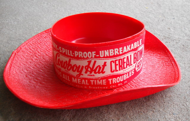 1950s Cowboy Hat Cereal Bowl