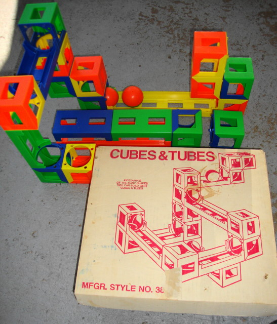 1960s early 70s Cubes & Tubes Building Set