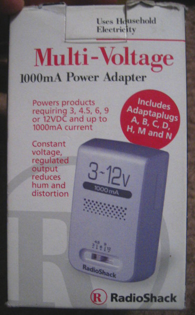 Multi Voltage Power Adapter