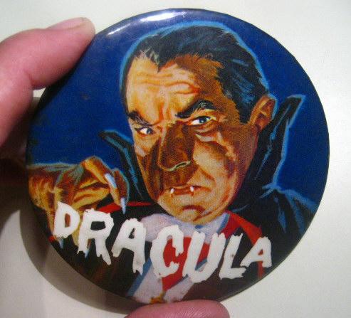 """1960s 3"""" Dracula Pin"""
