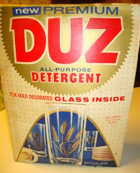 1950s Duz Detergent MINT Still Sealed with Premium Glass Inside!