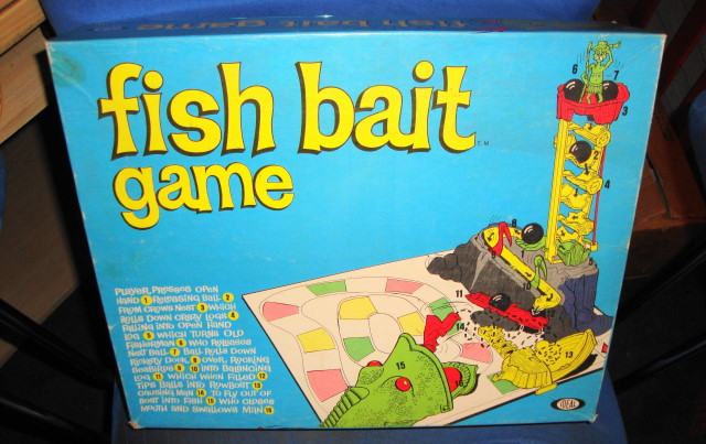 1965 Fish Bait Game by Ideal Mint & Complete