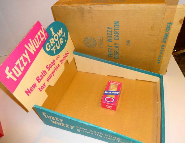 1966 Fuzzy Wuzzy Soap Display & Soap