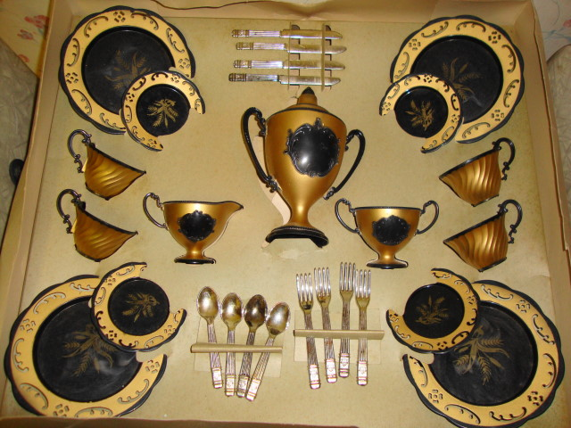 1950s Gay Victorian Serving Set