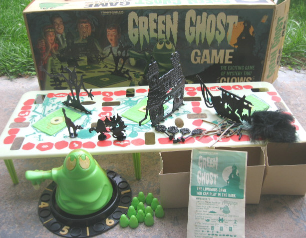 1965 Green Ghost Game by Transogram
