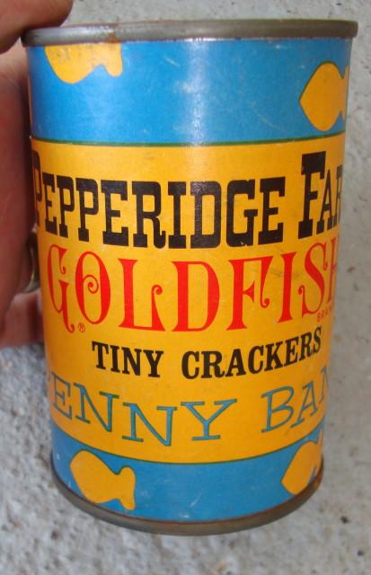 Original 1960s Goldfish Crackers Bank!