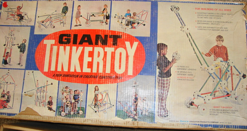 1972 GIANT Tinkertoy Set