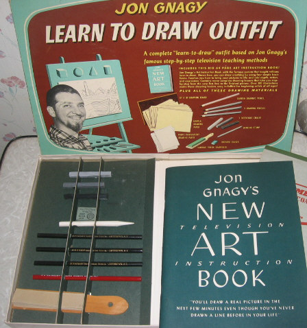 1960s Jon Gnagy Drawing Kit