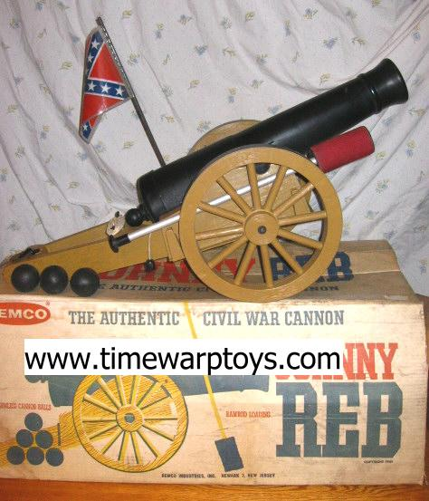 1961 Johnny Reb Cannon by Remco - Vintage Toy