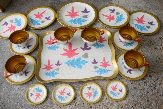 Tin Litho Tea Set by Ohio Art