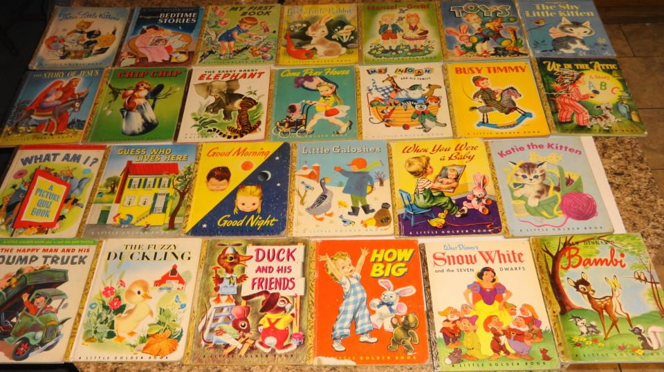 Vintage 1940s Little Golden Books