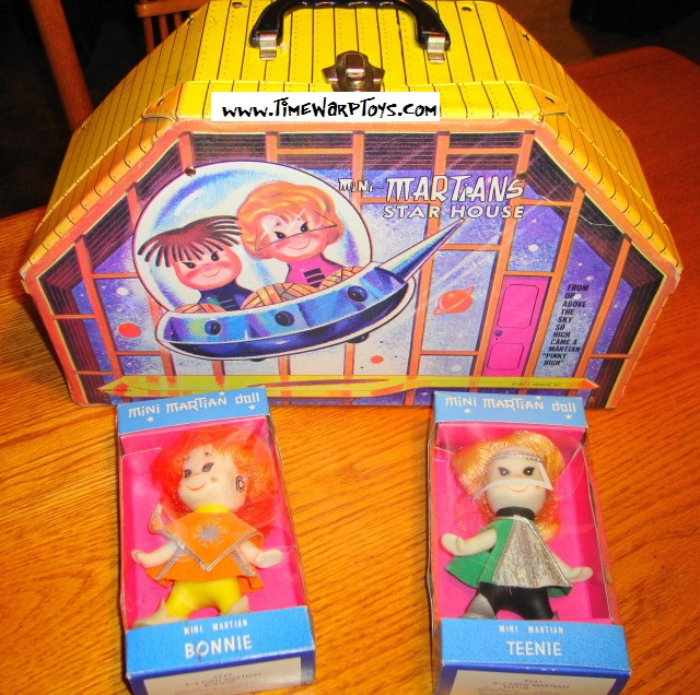 1967 Martian Star House by Ideal w/ 2 MIB Dolls!