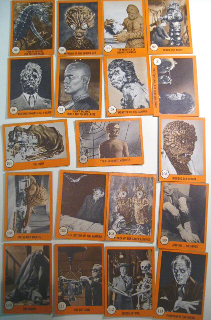 1961 Monster Horror Trading Cards