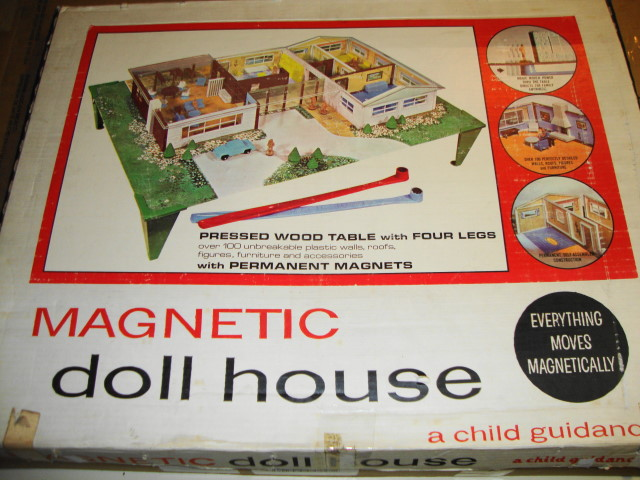 1964 Magnetic Doll House by Child Guidance