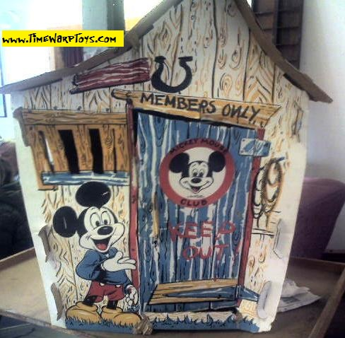 1960s Mickey Mouse Kid Size Clubhouse