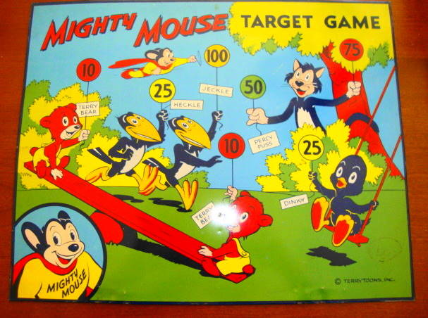 1960s Mighty Mouse Target
