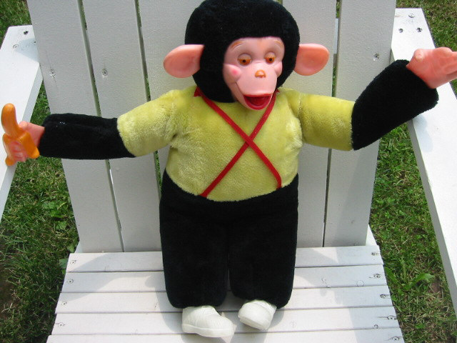 Vintage Toy - Mr. Bim Monkey with Banana