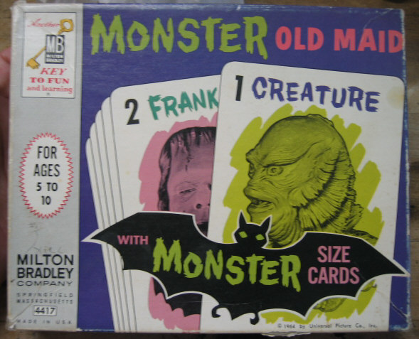 Monster Old Maid Cards 1964