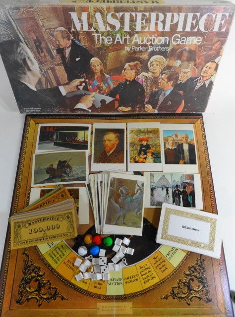 1970 Masterpiece Art Auction Game