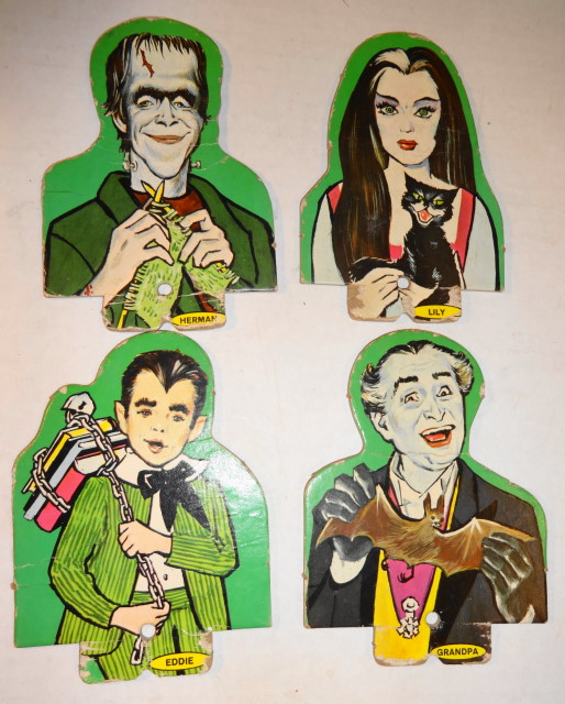 Rare The Munsters Targets from 1964 Ideal Target Game