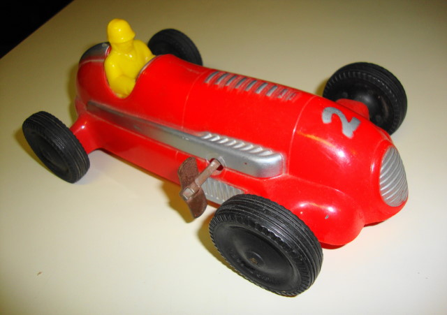 1950s Wind Up Tether Race Car