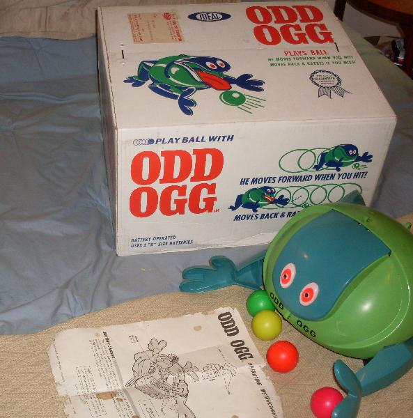 Mint Odd Ogg sitting next to Sealed Box with Odd Ogg INSIDE!