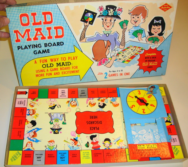 RARE Old Maid Board Game