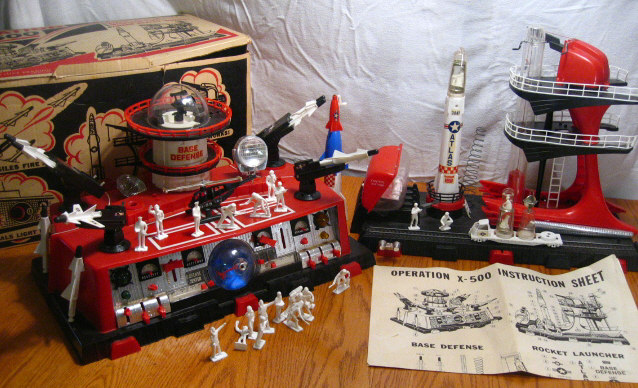 1960 Operation X-500 Space Play Set