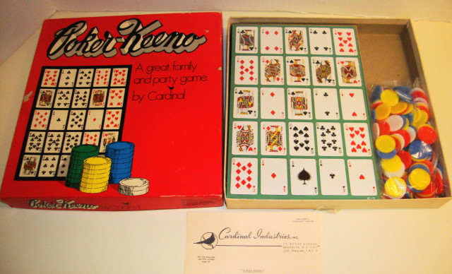 Poker-Keeno Game by Cardinal