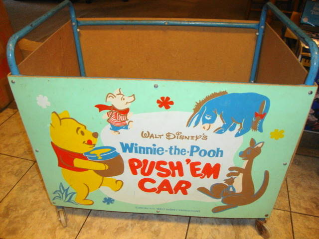1964 Winnie The Pooh Toy Cart