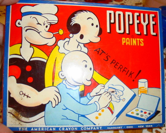 1949 Popeye Tin Paint Set